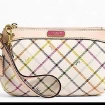 Nwt Coach Peyton Tattersall Med Wristlet/clutch 51859 Sold Out Fits Iphone 6 Photo