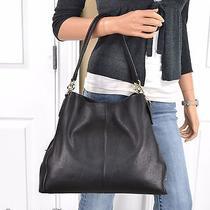 Nwt Coach Phoebe Black Pebbled Leather Shoulder Bag Handbag Purse  Photo