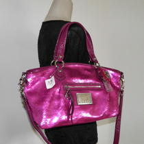 Nwt Coach Pink Poppy Sweetheart Sequin Rocker Satchel Handbag Shoulder Bag 16339 Photo