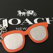 Nwt Coach Pop Art Orange Sunglasses Keyring Fob Bag Charm 54920 Photo