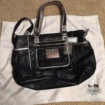 Nwt Coach Poppy Book Tote 14370 Silver/onyx Bright Pink Interior Msrp 368 Photo