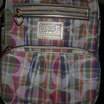 Nwt Coach Poppy Daisy Madras Backpack Book Bag Lap Top Bag F21886 New Rare  Photo