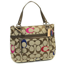 Nwt Coach Poppy Embroidered Sign Glam Tote Handbag in Multi 21184 Photo