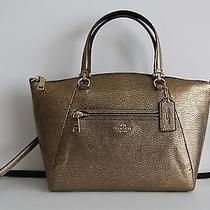 Nwt Coach Prairie Leather Satchel Handbag Gold Light Gold Photo