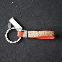 Nwt Coach Red 'Cc' Loop Keychain Key Fob. Purse Charm. Great Gift. Photo