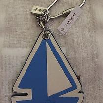 Nwt Coach Sailboat Key Ring/chain/charm Fob F65870  Photo