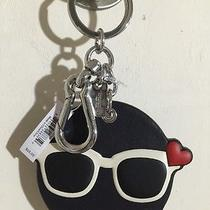 Nwt Coach Shady Emoji Charm Sunglasses Heart Leather Keychain Key Ring 65825 New Photo