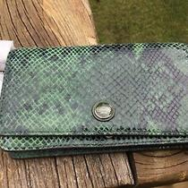 Nwt Coach Signature Embossed Snake Leather Clutch Wristlet Wallet F50107 Photo