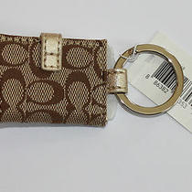 Nwt Coach Signature Picture Frame Key Chain Photo