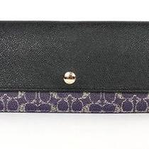 Nwt Coach Signature Slim Envelop Wallet Violet/black 52448  Photo
