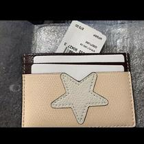 Nwt Coach Star Card Case in Crossgrain Leather Photo