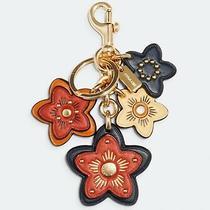 Nwt Coach Wildflower Mix Bag Charm Key Chain Fob Ring 5136 98 Bright Ginger Photo