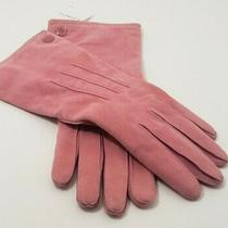 Nwt Coach Women's Cashmere Lined Suede Gloves Pink Rose Size 7.5 / 80038 Photo