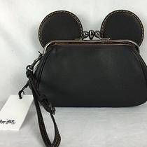 Nwt Coach X Disney Ltd Edition Mickey Mouse Black Kisslock Wristlet Clutch 65794 Photo