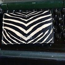 Nwt Coach Zebra Print Card Case Wallet Photo
