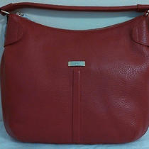 Nwt Cole Haan Red Pebble Leather Village Parker Hobo Shoulder Purse Bag Gift Photo