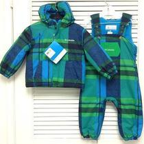 Nwt Columbia Baby Toddler Boys First Snow Jacket Snow Suit Bib Set Sz. 18m Photo