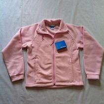 Nwt Columbia Fleece Jacket Girls Sz 14/16 Pink Front Zip Sweater Coat  Photo