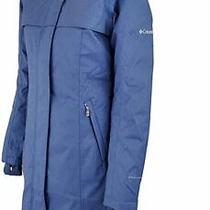 Nwt Columbia Flurry Run Womens Blue Omni Heat Down Long Jacket Size Xs org.280 Photo