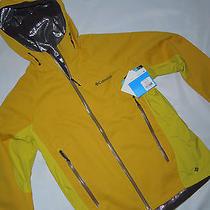 Nwt Columbia Mens Omni Heat Triteca Softshell Jacket  Large Yellow Retail 220 Photo