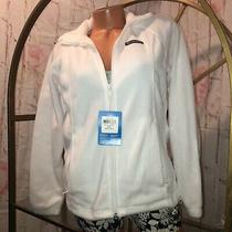 Nwt Columbia Women's White Benton Springs Full Zip Warm Fleece Jacket Sz S Photo