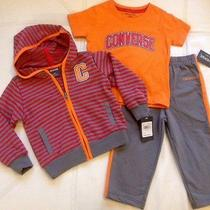 Nwt Converse All Star Infant Baby Boys 3pc Set Jacket Pants Shirt 24 Months Photo