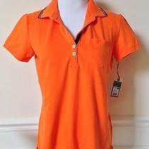 Nwt Converse One Star Orange Pique Polo Shirt Collared Short Sleeve L 16.99 Photo