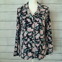 Nwt Cosabella Long Sleeve Jersey Pajama Top Sleep Shirt Medium Floral Blue Pink Photo