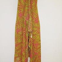 Nwt Cosabella Sarong Swimsuit Cover Up Pink Green Tropical Italy Photo
