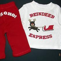 Nwt Crazy 8 Gymboree Reindeer Express Top Shirt Ho Ho Ho Pants Outfit 3-6 Months Photo