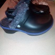 Nwt Crocs Cheerful Christy Girls Clogs C10 Black/graphite Photo
