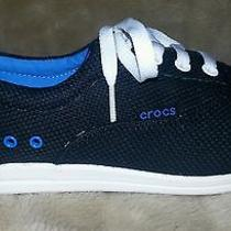 Nwt Crocs  Lopro Long Vamp Plim Sneaker Size 7 Black  Photo