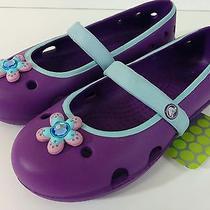 Nwt Crocs Size C12 Keeley Girls Dahlia/sky Blue Ballet Flat Slip on Shoes  New Photo