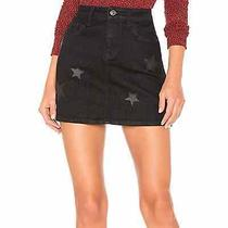 Nwt Current/elliot  Vineland Star 5-Pocket Mini Skirt in Black Denim Sz 26 228 Photo