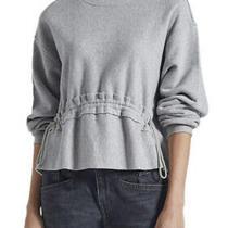 Nwt Current/elliott Size 1 Small Bloom Gathered Front Sweatshirt Athleisure T16 Photo