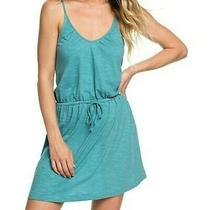 Nwt Cute Roxy Isla Vista Strappy Dress Lightweight Brittany Blue Size Large Photo