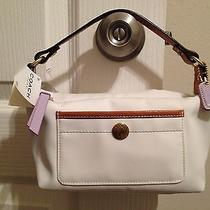 Nwt Cute White Coach Pouch Photo