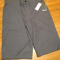 Nwt Dark Gray Striped Hurley Dress Lounge Shorts Skate Surf 28 New Msrp 49.50 Photo