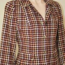 Nwt David Meister Wool Blend Houndstooth Short Cropped Jacket Blazer Sz 4 Photo