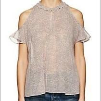 Nwt - Derek Lam Crosby Cold Shoulder Blush Pink Blouse - Size 8 Photo