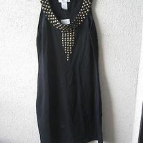 Nwt Design History Medium Dress Black Beaded Scoopneck Wool 178 Photo