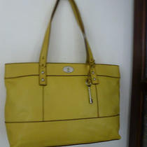 Nwt-Designerpopular Fossil Shoulder Bag in Bright Summer Yellow Leather Photo