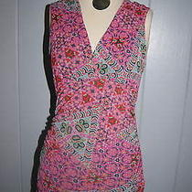 Nwt Designer Sweet Pea Stacy Frati Sleeveless Floral Tunic Medium 58 Free Ship Photo