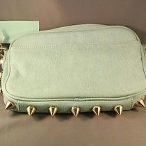 Nwt Deux Lux Studded Denim Empire City Hobo Messenger Bag Dl612-361 Photo