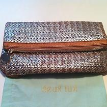 Nwt Deux Lux Trendy Silver Biscayne Clutch Photo
