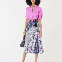 Nwt Diane Von Furstenberg Dvf Mariel Heal Bloom Multi Skirt Ruched Midi L 398 Photo