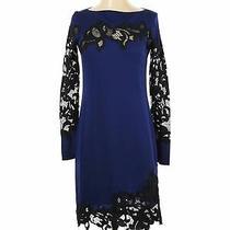 Nwt Diane Von Furstenberg Women Blue Cocktail Dress 0 Photo