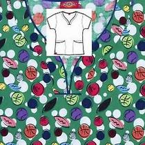 Nwt Dickies 14007 Curved-v Scrub Top Get Get Sporty Medium Free Ship Scrubs  Photo