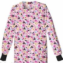 Nwt Dickies 84301 Scrub Jacket Hot Dog Pink Hotd Medium  Free Ship Scrubs  Photo