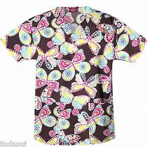 Nwt Dickies 84701 Scrub Top Flutter Away Flaw Medium Free Ship Scrubs  Photo
